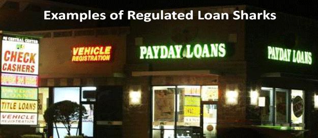 Regulated loan sharks